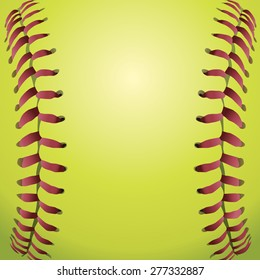 A closeup background illustration of softball laces.