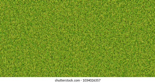 Closeup of colorful beautiful grass / meadow /turf texture background, top view (Tiles seamless, High-resolution 3D CG rendering illustration)