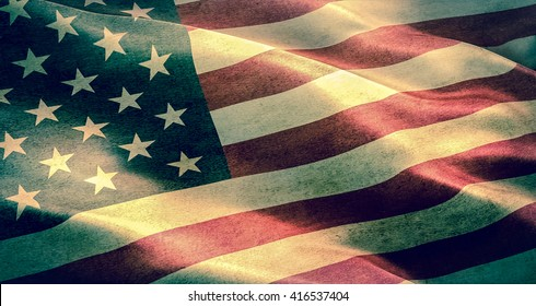 closeup of grunge American USA flag, united states of america