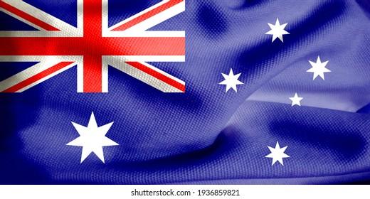 Closeup of grunge Australia flag, 3d illustration