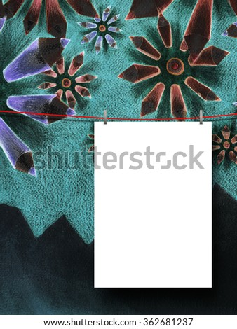 Royalty Free Stock Illustration Of Closeup One Hanged Paper Sheet