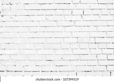 closeup of white brick wall