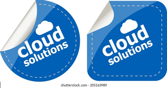 Cloud computing concept with cloud shape on sticky note