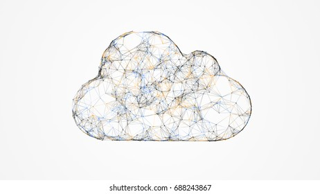 cloud computing, IT concept of the cloud technologies, global storage and internet of things