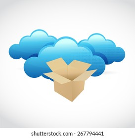 cloud computing storage box concept illustration design over white