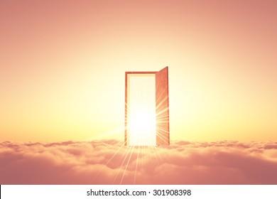 Cloud, door