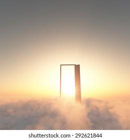 Cloud, heaven, door