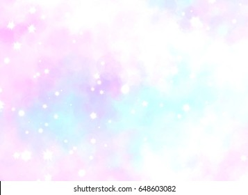 cloud like color splash with glitter abstract background
