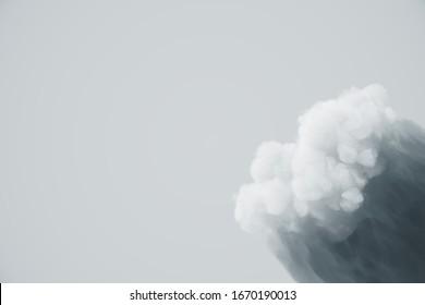 Cloud shadow background for business presentation. Loop clean minimal pattern, 3d rendering.