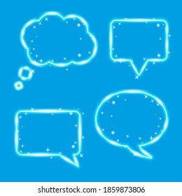A cloud of thought, chat bubbles. Magic design elements set. illustration.