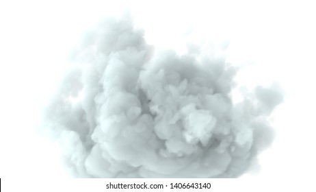 Clouds on isolated white background 3d render