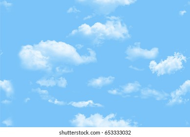 Clouds pattern seamless