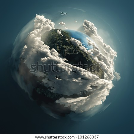 Cloudy Earth Space Stock Illustration 101268037 - Shutterstock 6bd313e19ae
