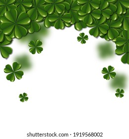 Clovers on isolated white background.