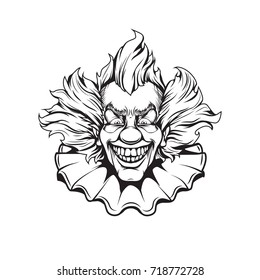 clown adult coloring page 260nw