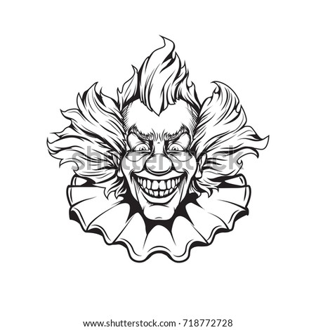 Clown Adult Coloring Page Stock Illustration 718772728 - Shutterstock