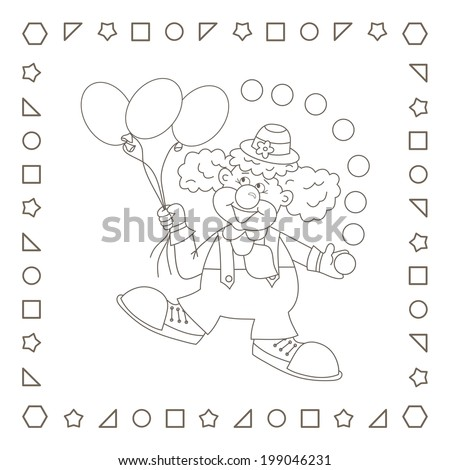 Royalty Free Stock Illustration of Clown Funny Cartoon Clown ...
