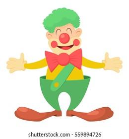 Clown icon. Cartoon illustration of clown  icon for web design