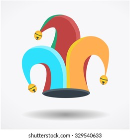 Clown`s hat, fool`s day holliday, circus