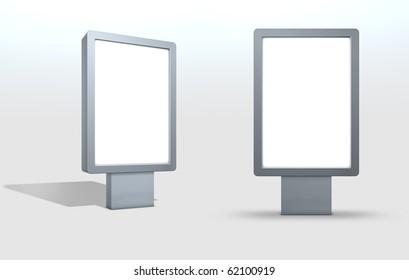 CLP Blank Advertising Board Billboard