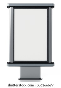 CLP City light poster stand isolated on white background. 3D illustration.