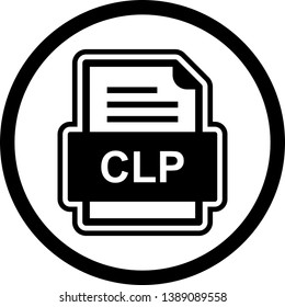 CLP File Document Icon In Trendy Style Isolated Background