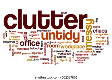 Clutter word cloud