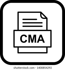 CMA File Document Icon In Trendy Style Isolated Background