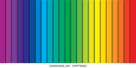 CMYK Color rainbow stripes background with shadow. cyan magenta yellow black Colorful spectrum gradient. Concept for presenting color printing fun funny color mode  Prepress  printing pms flyer poster