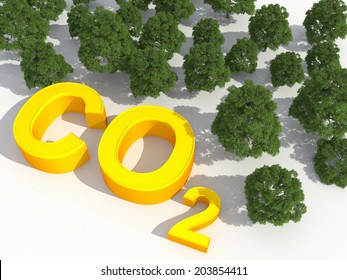 co2 and environmental greenhouse gases concept
