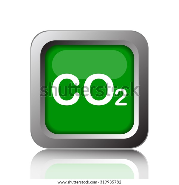 CO2 icon. Internet button on white background.