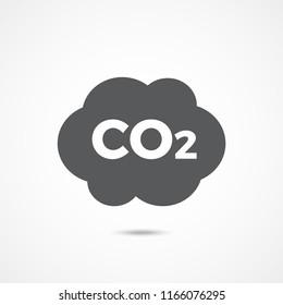 CO2 icon on white background