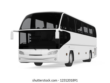 Coach Bus Isolated. 3D rendering