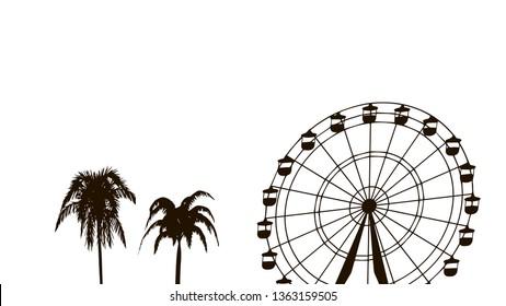 Coachella, Indio, United States, music festival silhouette