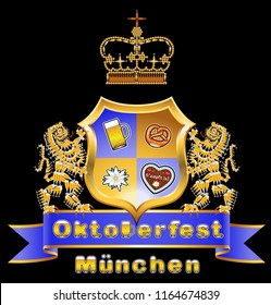 Coat of arms with banderole Oktoberfest
