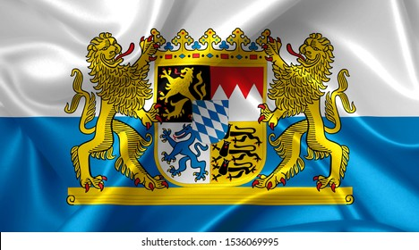coat of arms of bavaria country symbol illustration