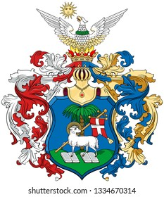Coat of arms of the city of Debrecen. Hungary