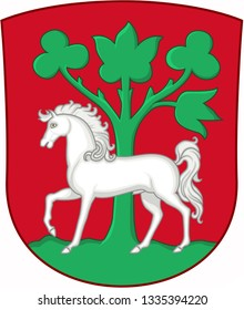 Coat of arms of the city of Horsens. Denmark