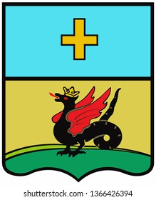 Coat of arms city of Kashira. Moscow region. Russia