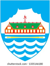 Coat of arms of the city of Nuuk. Greenland