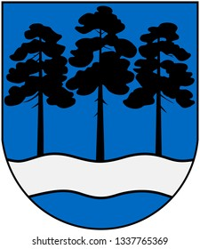 Coat of arms of the city of Ogre. Latvia