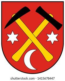 Coat of arms of Dobshin. Slovakia