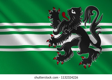 Coat of arms of East Flanders is a province of Flanders, one of the three regions of Belgium. 3d illustration