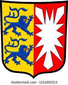 Coat of arms of the German federal state Schleswig Holstein - Germany.