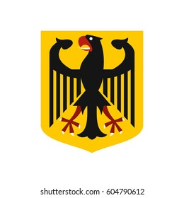 Coat of arms of Germany icon in flat style isolated on white background  illustration
