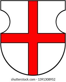Coat of arms of Ptuj. Slovenia