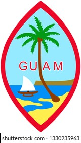 Coat of arms of the United States of America Guam