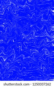 Cobalt and white digital abstract creative background from curved lines. Illustration