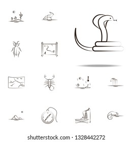 cobra desert icon. Desert icons universal set for web and mobile
