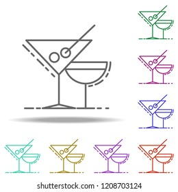 cocktail drinks dusk icon. Elements of Birthday in multi color style icons. Simple icon for websites, web design, mobile app, info graphics